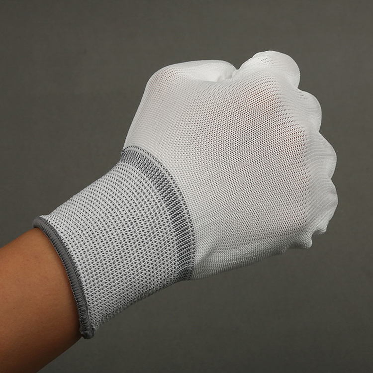 High Quality Esd Pu Coated Palm Work Glove