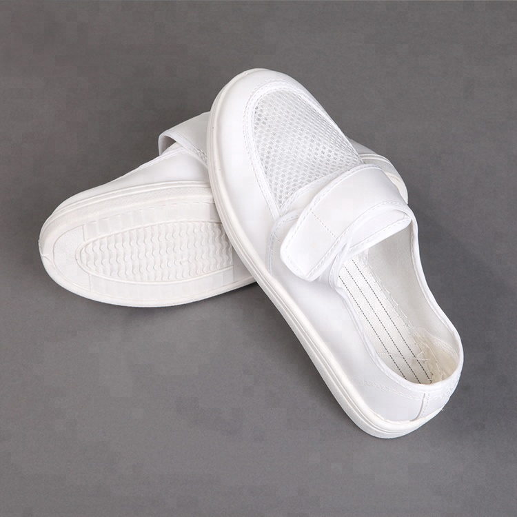 China Supplier PVC cleanroom Antistatic ESD Canvas shoes