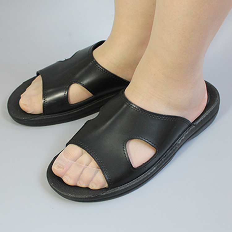 High quality Esd Safety Slippers ,Black Cleanroom Shoes