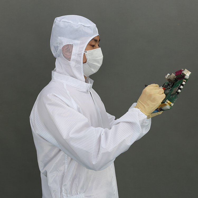 Long Sleeve T Shirt Suit Polyester Cleanroom Garments protected clothing