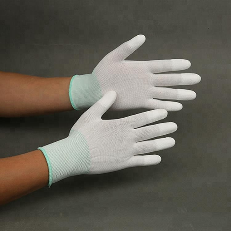Uhmwpe Protective Knit Glove With Pu Coat On Palm