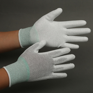 Non-slip Lint Free Palm Fit Gloves Industrial Work Glove