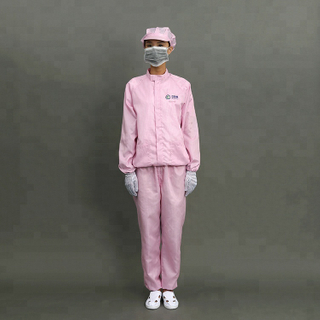Adults OEM Comfortable Cleanroom Used ESD Ladies Work Clothes