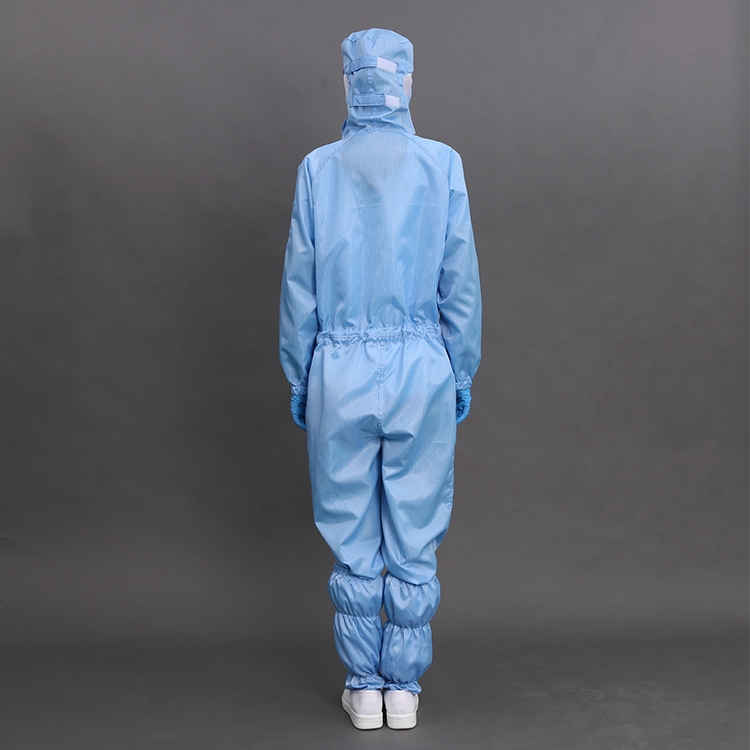 0.25mm Gridding Fabric ESD Cleanroom Garment Good Antistatic Effect