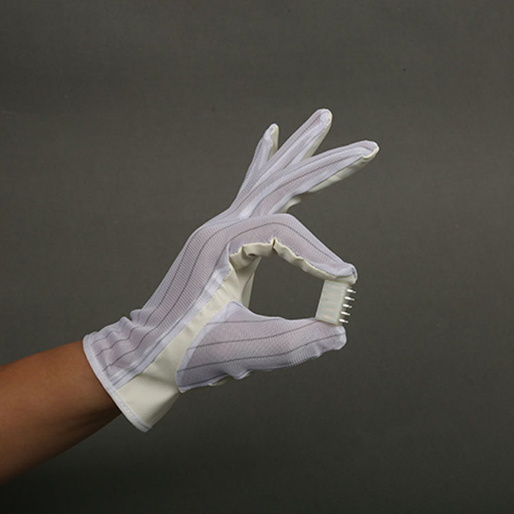 New style wholesale antistatic polyester esd cleanroom gloves