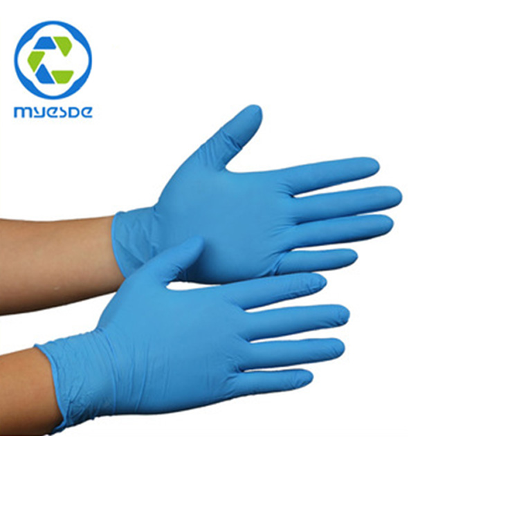 Disposable Work Gloves Powder Free Examination Garde Nitrile Gloves