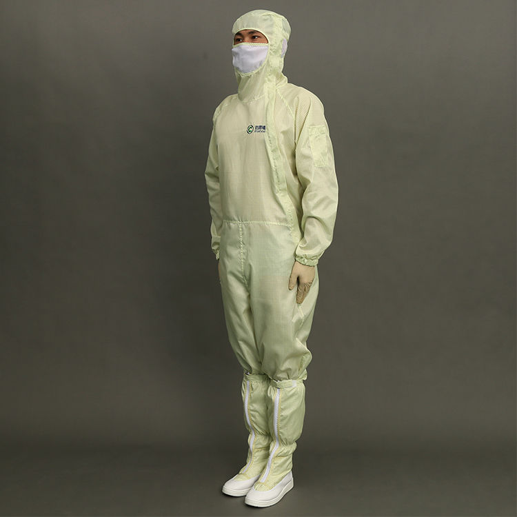 5mm Strip Polyester High Quality ESD Cleanroom Jumpsuit Antistatic Coverall