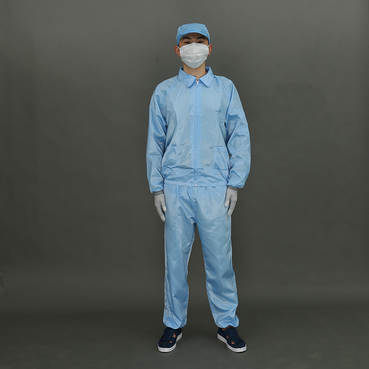 Quality Choice Jiangsu Polyester Antistatic Esd Garments for Clean Room