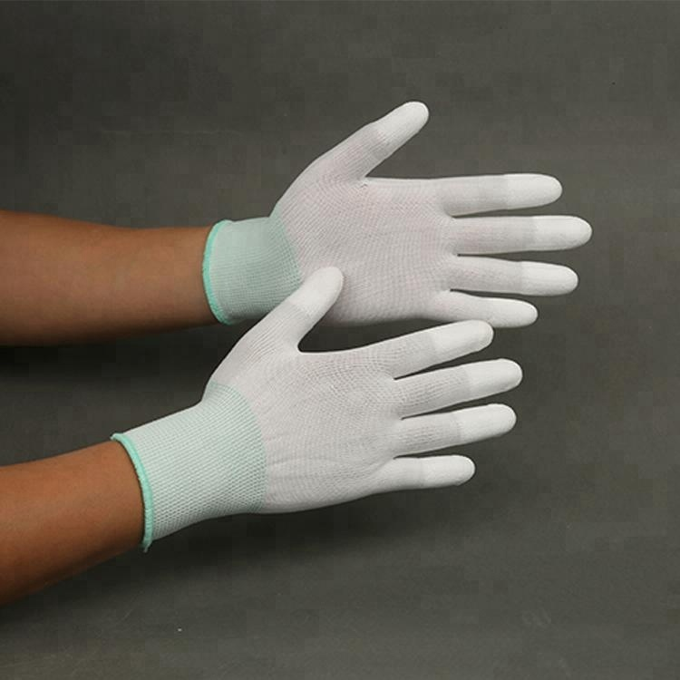Hot Sale Esd Top Fit Antistatic Glove,Knit Pu Gloves