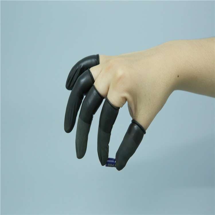 Black Static Dissipative Finger Cots ESD Powder Free Latex Finger Cot