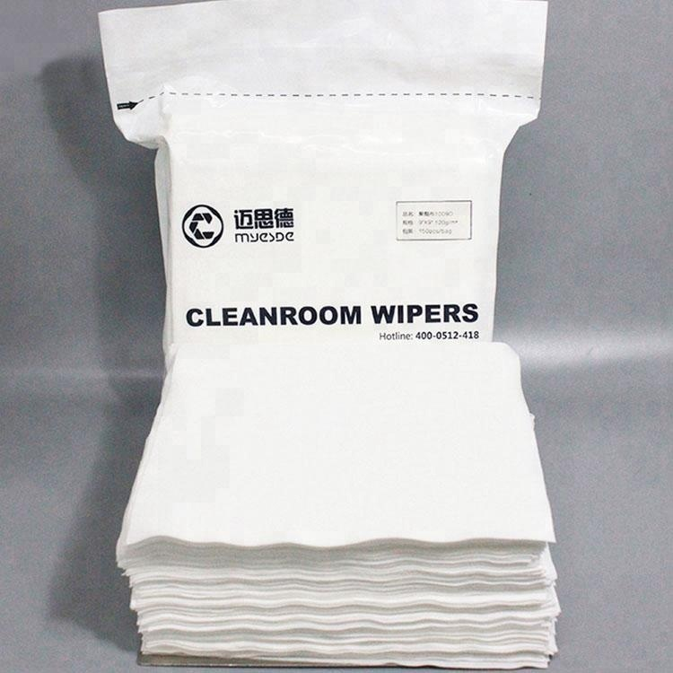 100% Polyester ISO9001 140gsm Cleanroom Wiper for Pharmaceuticals