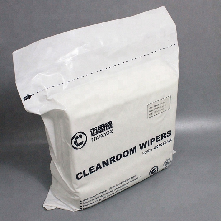 1009 Dustless 100% Polyester Wiping Cloth Fabric Cleanroom Wiper