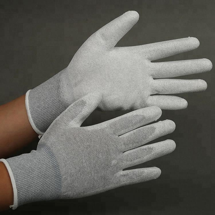 Hot Sale Esd Palm Fit Pu Coated Gloves,Anti-Static Gloves