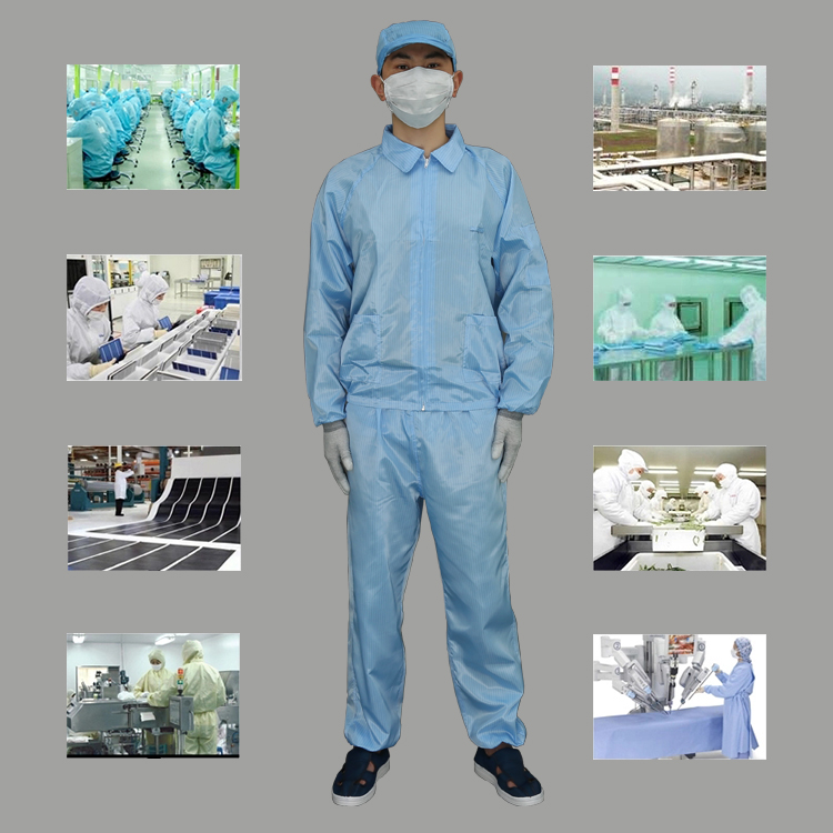 Hot selling Protective AntiStatic Stand Collar Cleanroom Suit