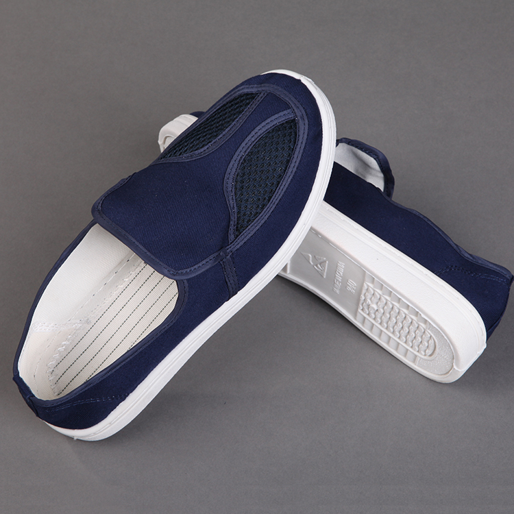 2019 New Design Wholesale Anti-Static Blue Canvas Safety Shoes