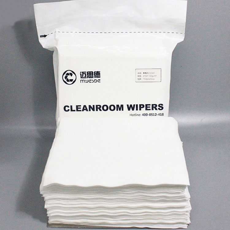 class100 12inch 140g Super Absorbent 100% Cleanroom polyester Wiper Clean Cloth Wiper