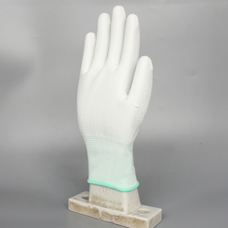wholesale Nylon Pu Coated Esd Gloves,Palm And Finger Coated Glove