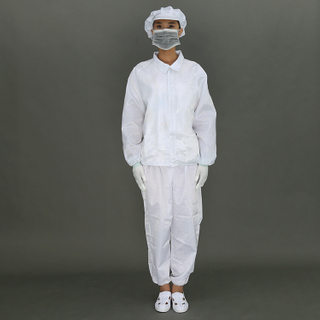 Unisex Anti-Static White Safety Coverall With Washable