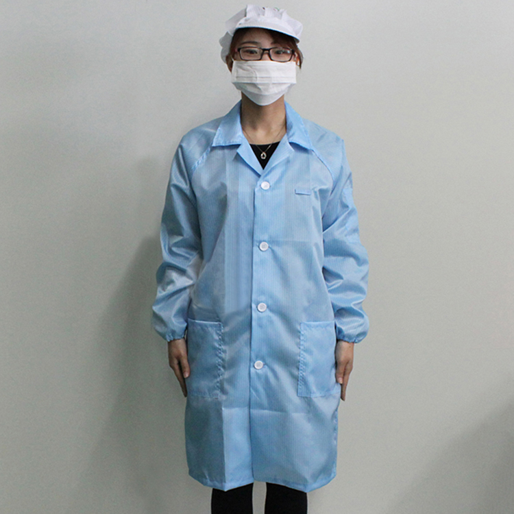 2019 New Design Cleanroom Garments Anti Static Protective Coveralls