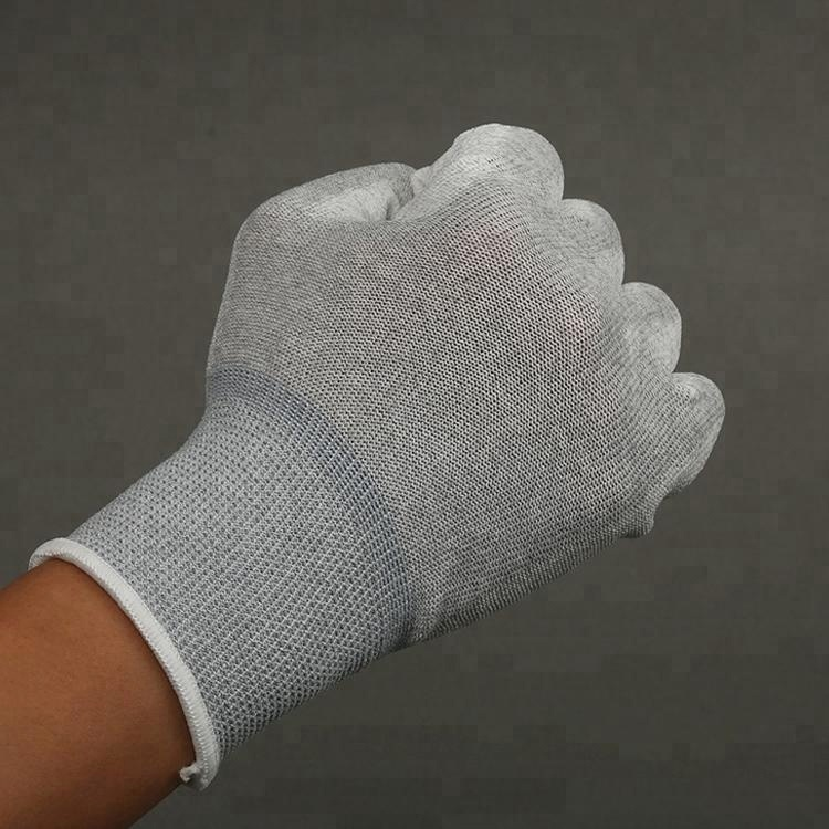 High quality esd antistatic carbon fiber pu gloves