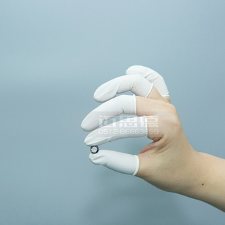 Good price 1440pcs white ESD Rubber Antistatic Work Nitrile Finger Cots Cleanroom Rubber Latex Finger Cots