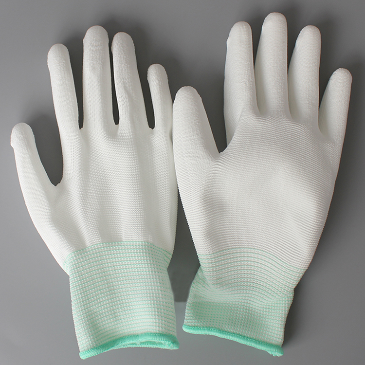 High Quality Pu Coated Gloves,Top Fit Gloves,Nylon Fingertip Coated Gloves