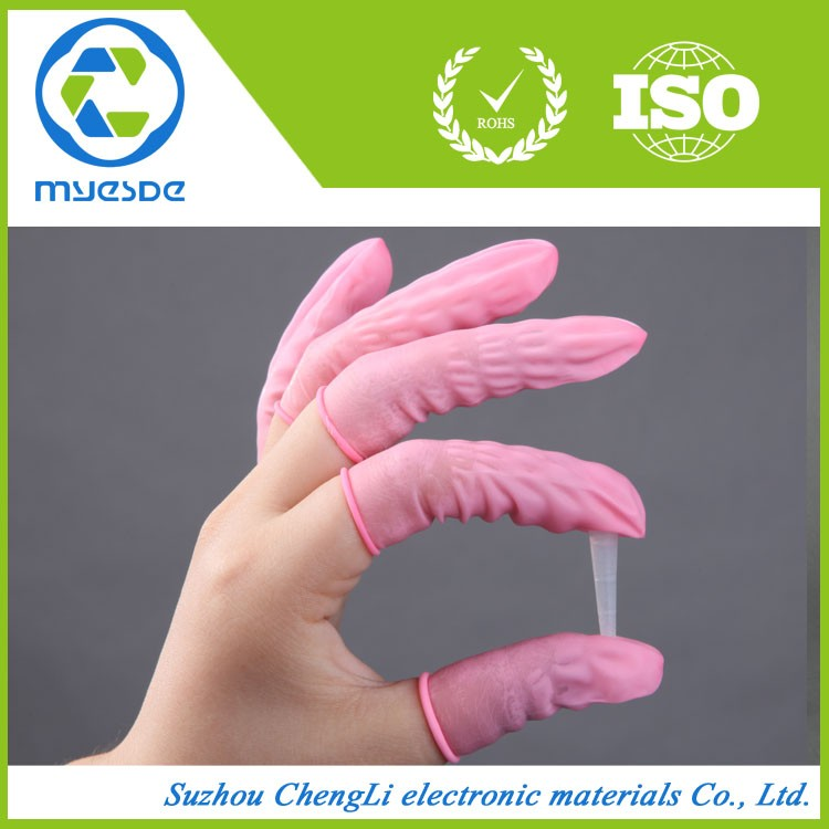 Malaysia Electronic Cleanroom Yellow Latex Finger Cots
