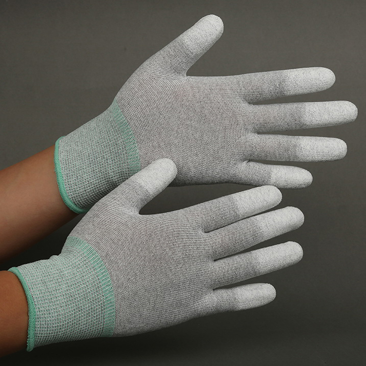 PU Coated Nylon ESD Top Fit Gloves