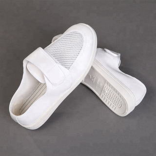 China White Cleanroom ESD PVC Antistatic Safety Shoes