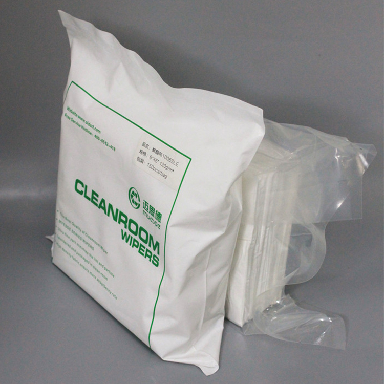 9*9inch 145gsm Cleaning Wiper Cleanroom polyester Microfiber Wiper Cleanroom Lint Free Polyester Wipes