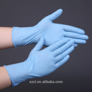 Disposable powder free nitrile gloves