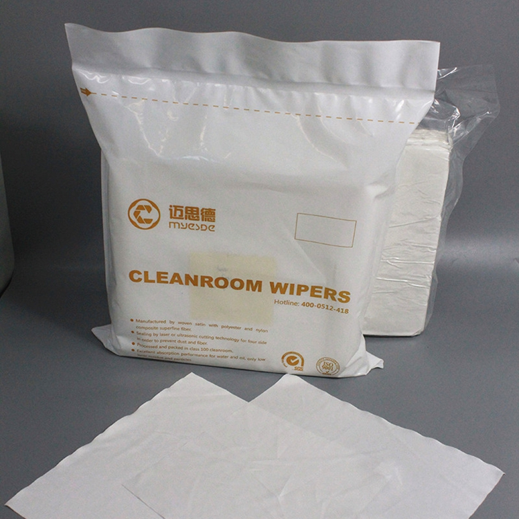 class 100 145gsm100% polyester 12inch low price 100% polyester Cleaning Wiper For Cleanroom