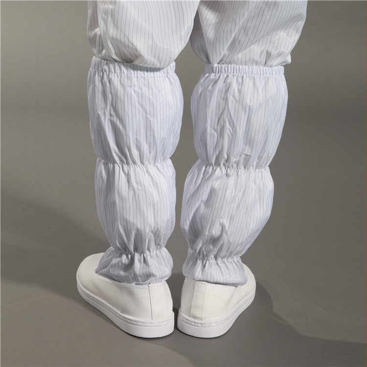 Workshop Dust-free Cleanroom PU Canvas ESD Long Booties Cleanroom ESD Safety booties Industrial Workerwear Antistatic Booties