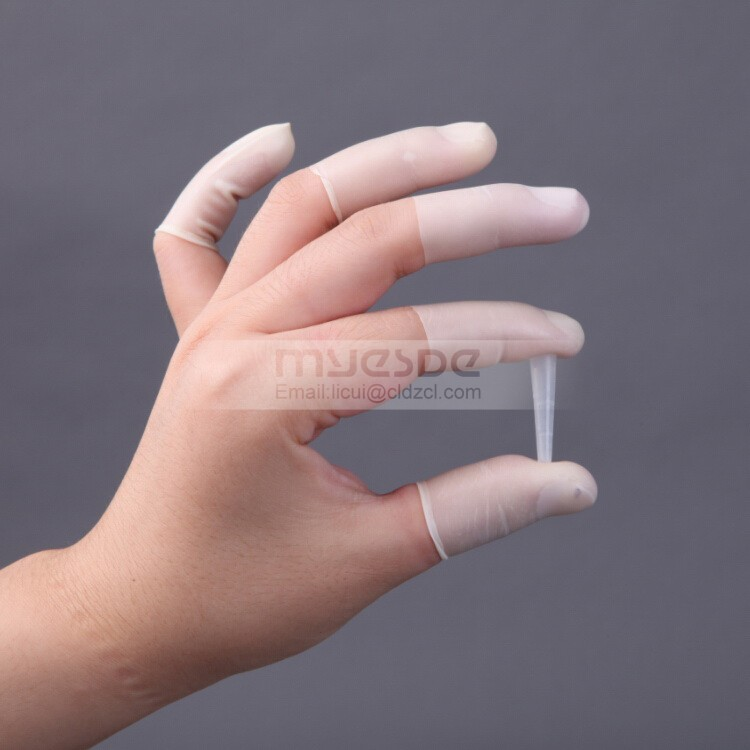 Industrial Latex Finger Cots White Finger Cots for Electronics