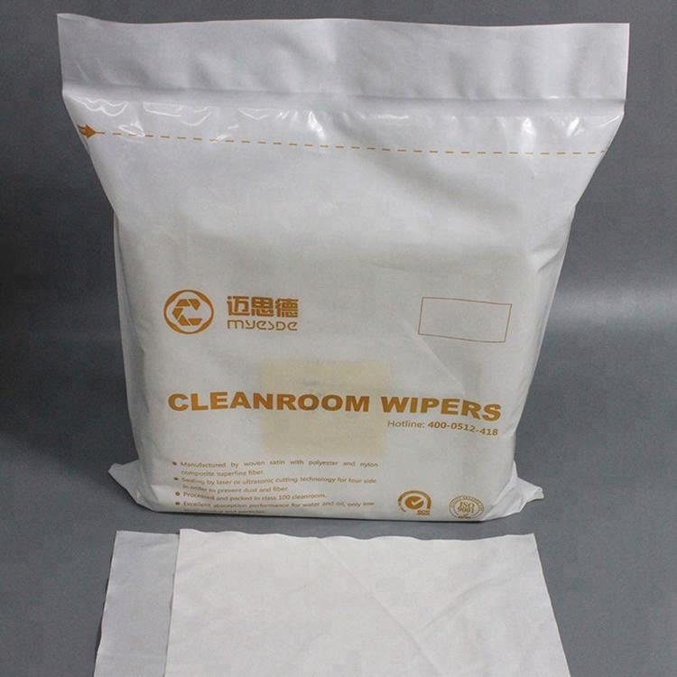 Made In China Class 100 Industrial Wiping 2ply 100 Polyester Lint Free Cleanroom Water Absorbent Wiper