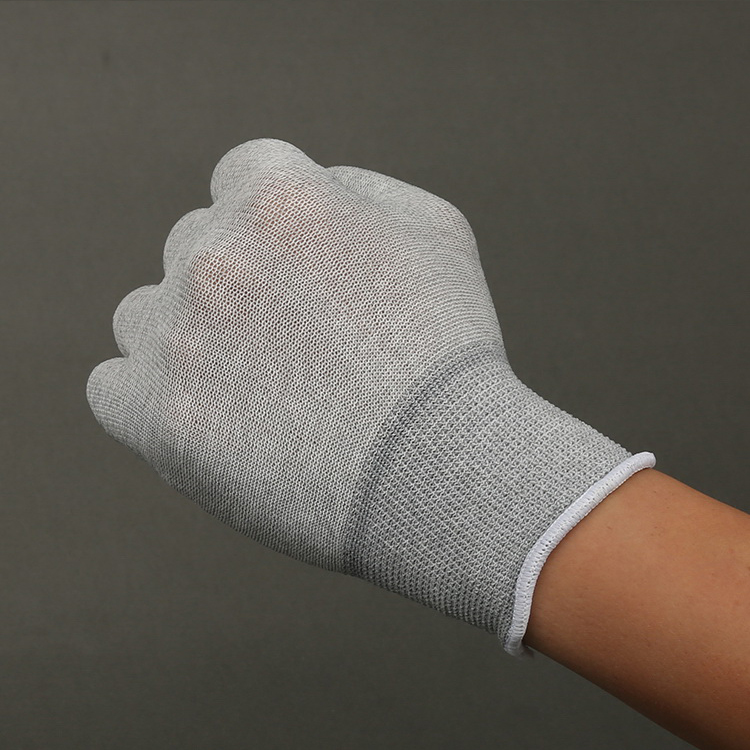 High Quality Cheap Price Anti-Static Grey Pu Top Fit Gloves