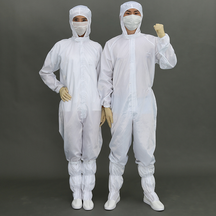 Wholesale White Esd Workshop Unisex Cleanroom Coverall
