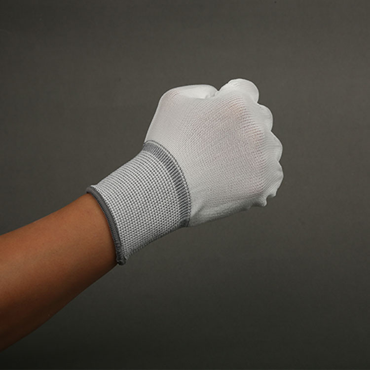 Gray Non-Disposable Esd Pu Fit Antistatic Gloves