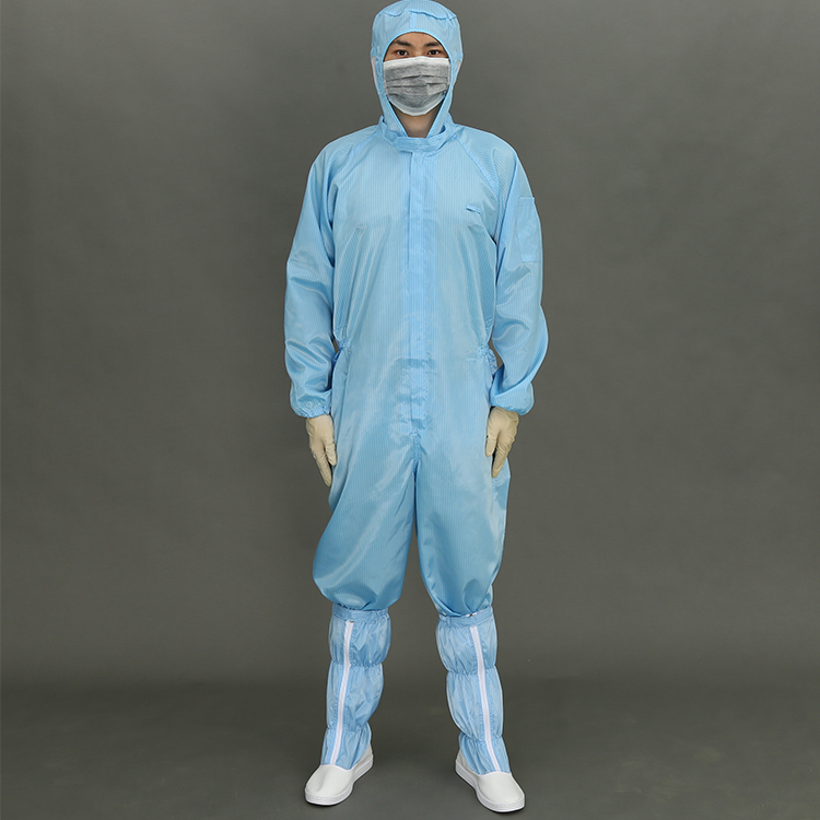 Hot Selling Polyester Filaments And Conductive Fibers Cleanroom Uniform