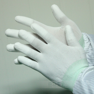 High Quality Pu Coated Glove Pu Finger Coated Glove Antistatic Glove