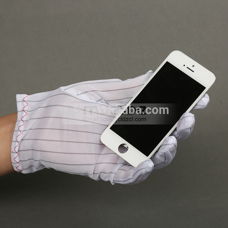 Electronics Work Anti-static ESD Useful Knitted Safety Gloves