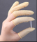 Yellow high quality halogen free wholesale esd latex rubber finger cots