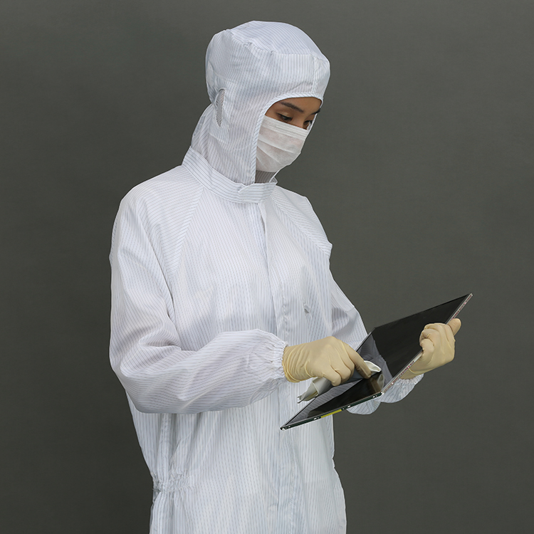 High Quality Antistatic Esd Jacket And Pants Cleanroom Suit Polyester Jacket And Pants Cleanroom Suit