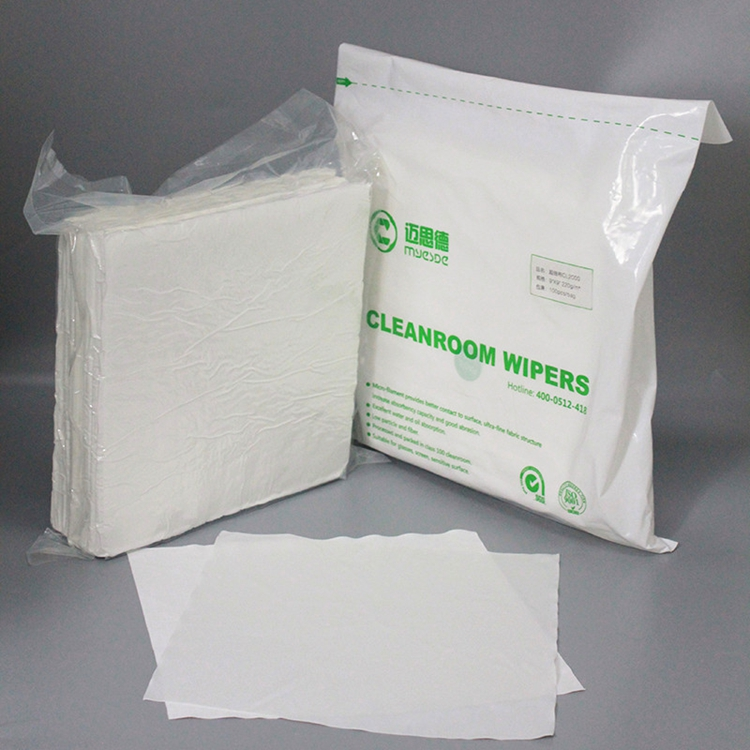 140Gsm White Cleanroom Wiper 100% Polyester For Pharmaceuticals