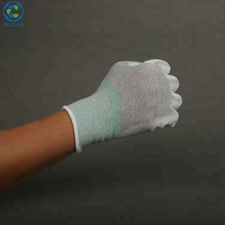 PU Coated Nylon Work Hand Top Fitted Knitted Glove