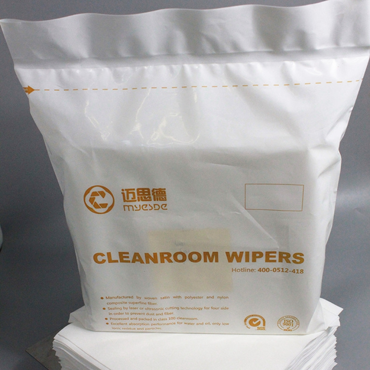 class 1000 12inch 100% Polyester Dustless Lint Free 290gsm 2-ply Cleanroom Wipes