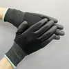 Antistatic PU Plam Coated glove Carbon Fiber ESD pu top fitted gloves