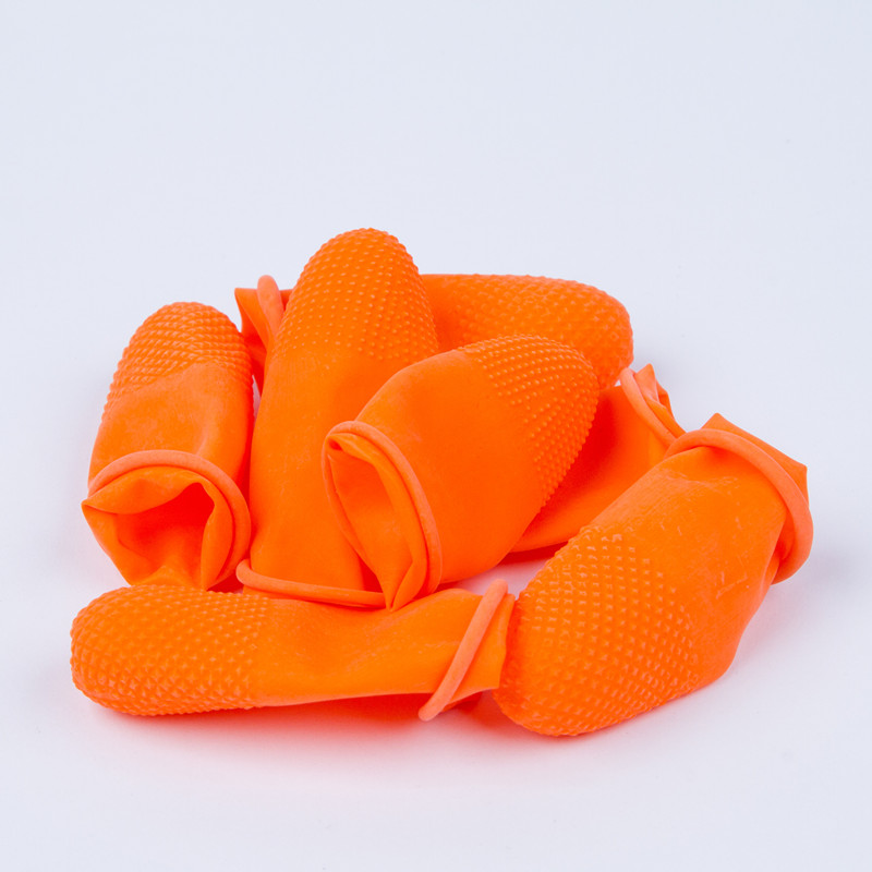 Orange high quality disposable black Antistatic Latex Finger Cot